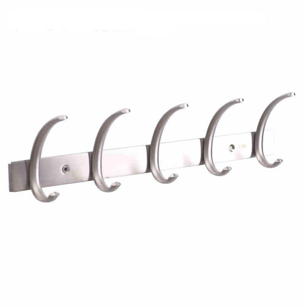 The best dreamsbaku wall mounted coat hooks rail robe towel racks 5 tri hooks for kitchen bedroom stainless steel