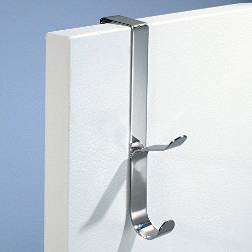 Top interdesign forma over door organizer hook for coats hats robes clothes or towels 1 dual hook brushed stainless steel