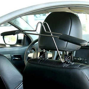 Storage organizer opl mart suit hanger stainless steel car hangers for clothes coat suit scalable convenient headrest chair seat