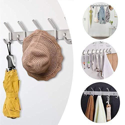 Purchase dosens coat hook rack wall mount sus 304 stainless steel hanger clothes hat holder 10 hooks 2 pack