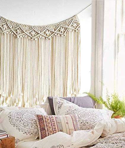 "Macrame Wall Hanging Boho Wedding Hanger Cotton Handmade Wall Art Home Wall Decor,42""x 35"""
