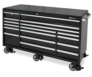 Cheap montezuma tool box 72 17 drawer roller cabinet with 18 gauge steel construction black powder coat finish bk7217mz