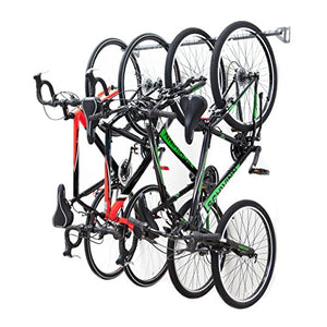 Monkey Bars Garage Bike Rack - Stores 4 Bikes - Heavy Duty Garage Bike Storage