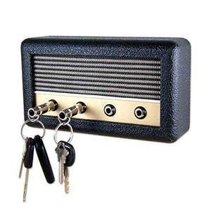 Guitar Amp Wall Mounted Key Holder with 4 Keychains, The Key Board by Droplight (Dalton)