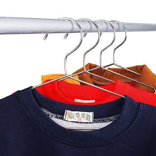 Great jetdio 12 5 children stainless steel clothes shirts hanger with notches children hanger cute small strong coats hanger for kids 30pack