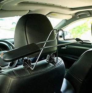 Storage opl mart suit hanger stainless steel car hangers for clothes coat suit scalable convenient headrest chair seat
