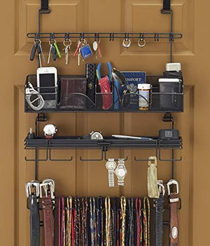 Latest longstem mens 9200 over the door wall belt tie valet organizer beautiful black powder coat see our 9100 5 star reviews mens organizer patented rated best
