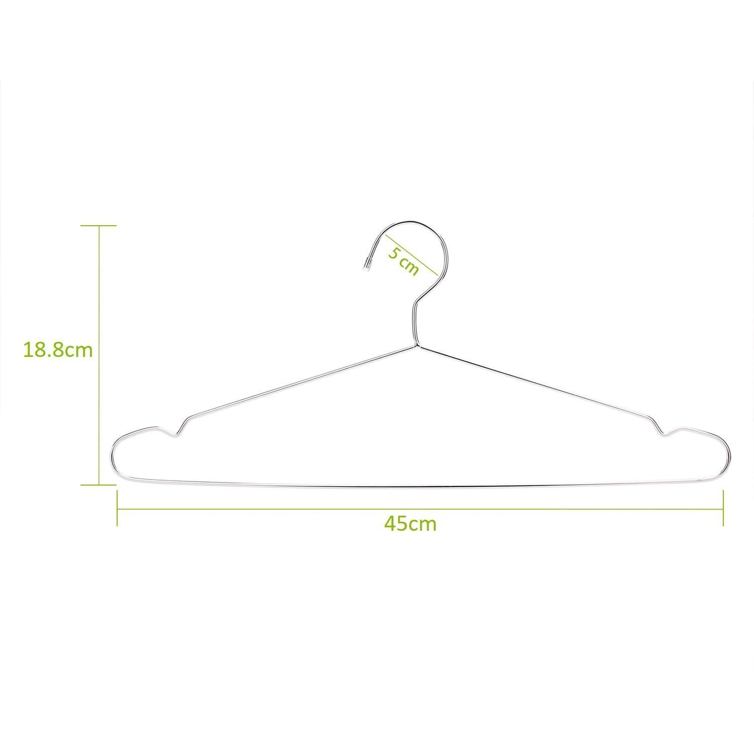 Save jetdio 17 7 stainless steel strong metal wire hangers clothes hangers coat hanger standard suit hangers everyday use hangers 30 pack