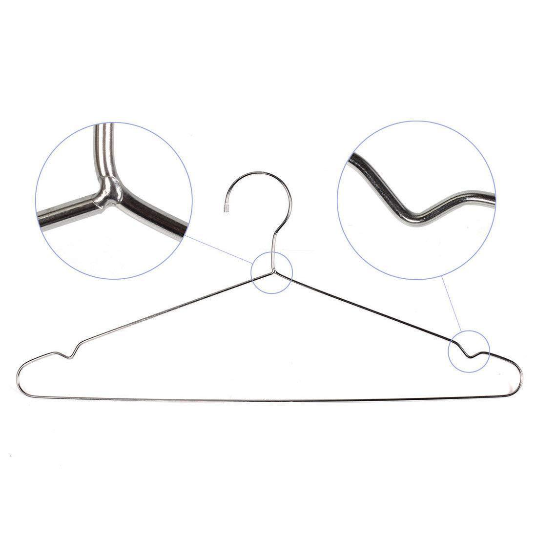 Get amazcafe 10 pcs 16 5 heavy duty stainless steel clothing clothes coat suit hangers