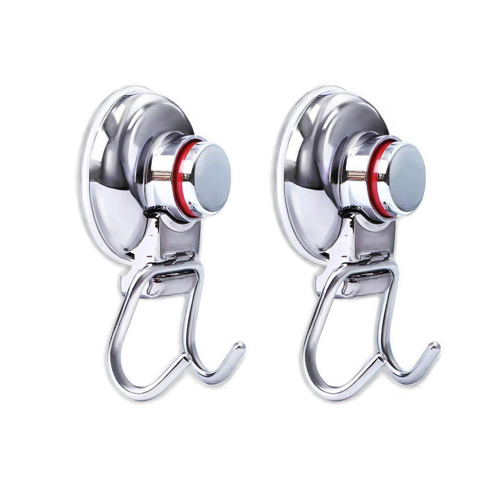 Save on powerful vacuum suction hooks mocy strong stainless steel suction cup hooks for bathroom kitchen wall home removable shower hools hanger damage free for towel bath robe coat and loofah pack of