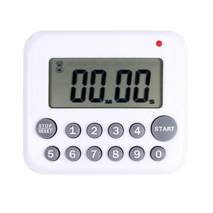 Ewinever 1PCS Digital Kitchen Timer Countdown Cooking Timer with Magnet Back and Clip Loud Alarm Big Digits Readout Quickly for Games Classrooms Sports Exercise Grey