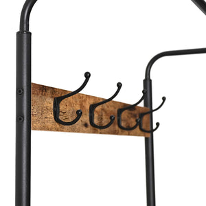 Results ironck coat rack free standing hall tree entryway bench entryway organizer vintage industrial coat stand 3 in 1 design wood look accent furniture with stable metal frame easy assembly