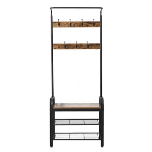 Related ironck coat rack free standing hall tree entryway bench entryway organizer vintage industrial coat stand 3 in 1 design wood look accent furniture with stable metal frame easy assembly