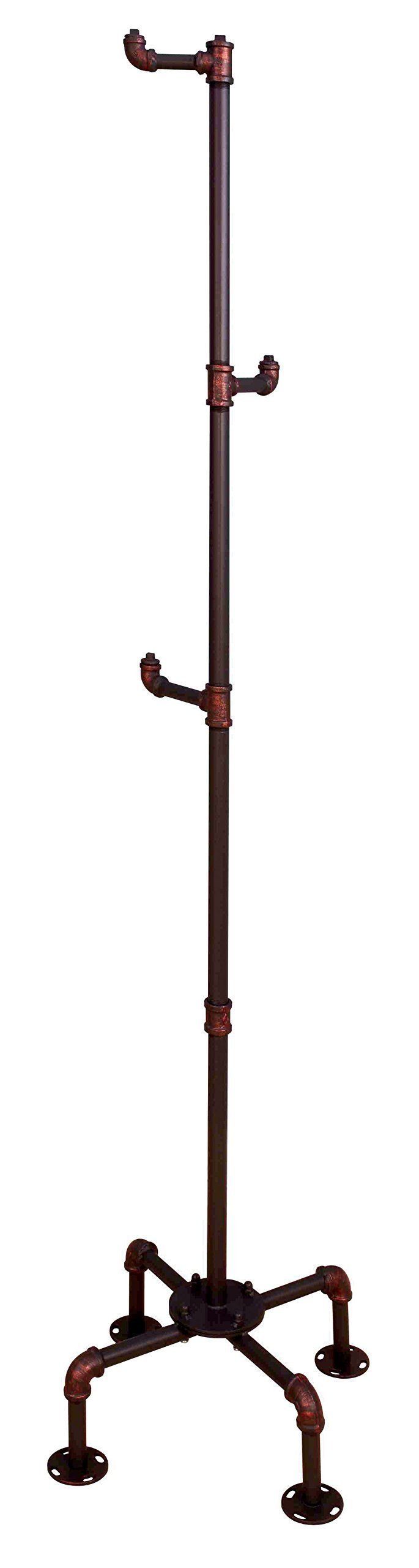 Organize with homes inside out idf 7914cr cuprite industrial coat rack