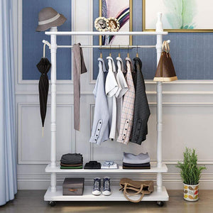 Products metal pulley multifunctional coat rack hall tree hanger clothing storage rack for coats hats clothes scarves drying racks size 105cm