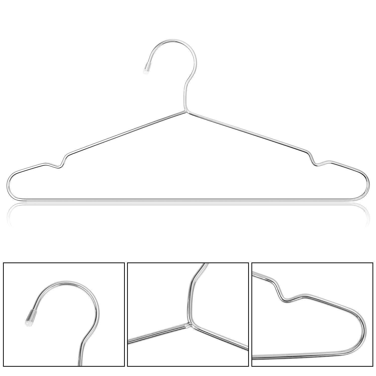 Top origa 20 pack stainless steel strong metal wire hangers 16 5 inch coat hanger standard suit hangers clothes hanger