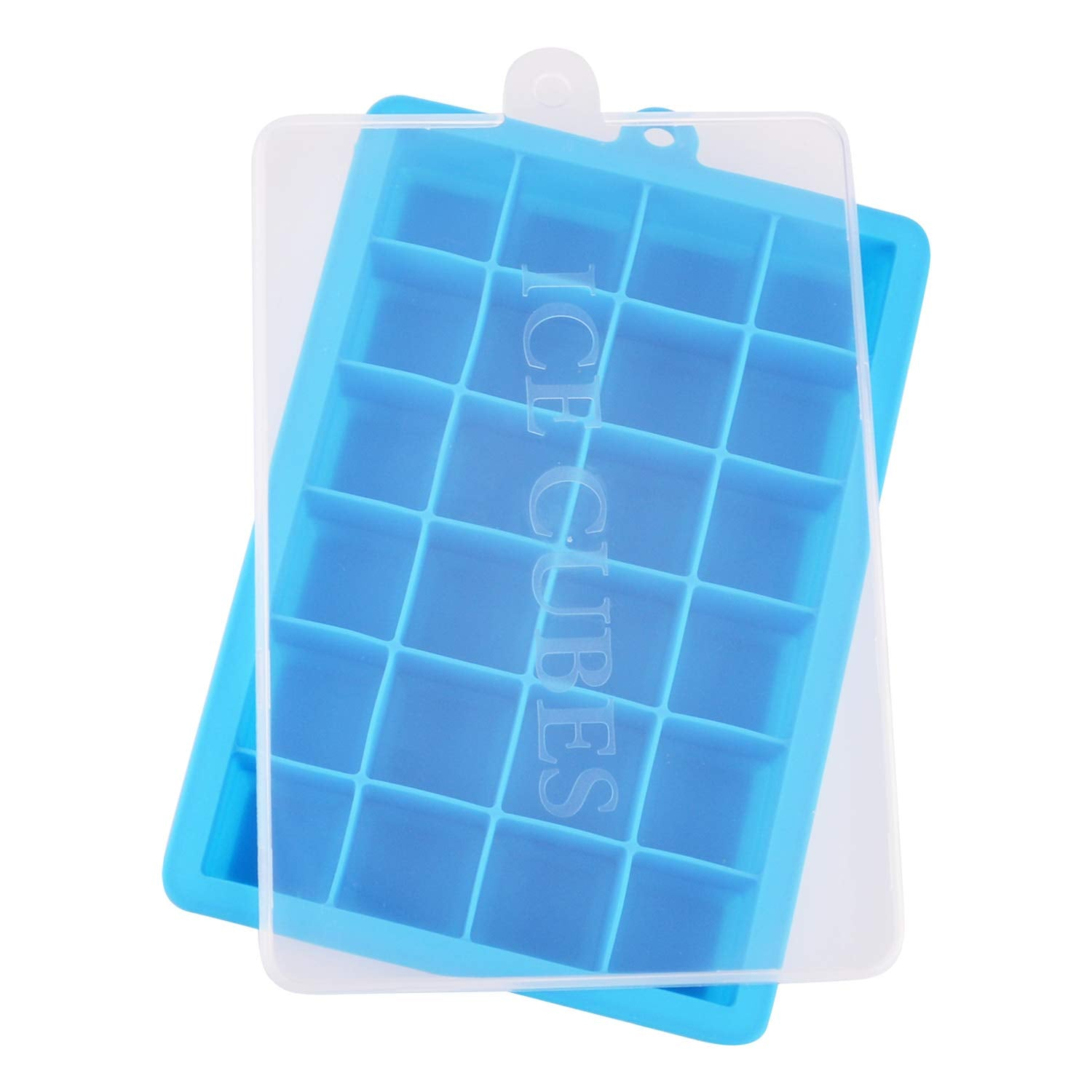 Ice Cube Tray, Silicone Ice Tray Molds Easy Release Ice Jelly Pudding Maker Mold,24 Cavity (Sky Blue)