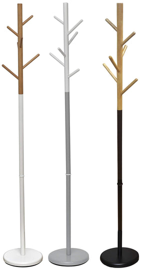 Online shopping tendance 96113237 evideco coat rack standing hall tree for entryway 6 hooks black and natural 69 2 h x 11 5