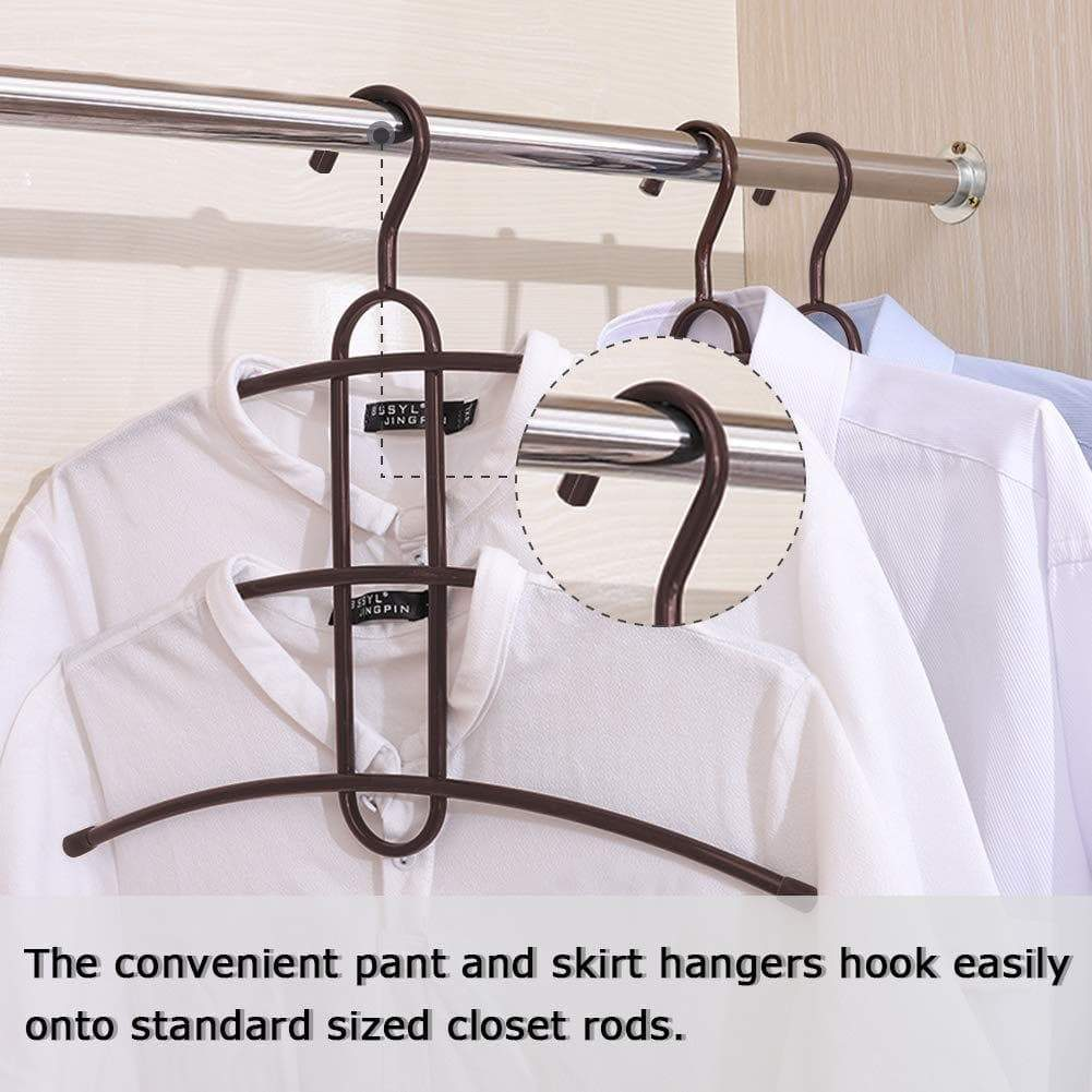Best seller  upra shirt hangers space saving plastic 5 pack durable multi functional non slip clothes hangers closet organizers for coats jackets pants dress scarf dorm room apartment essentials