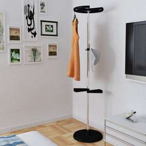 Heavy duty wenbo home indoor simple modern hangers fashion creative stainless steel multifunction landing coat racks coat rack hook color black