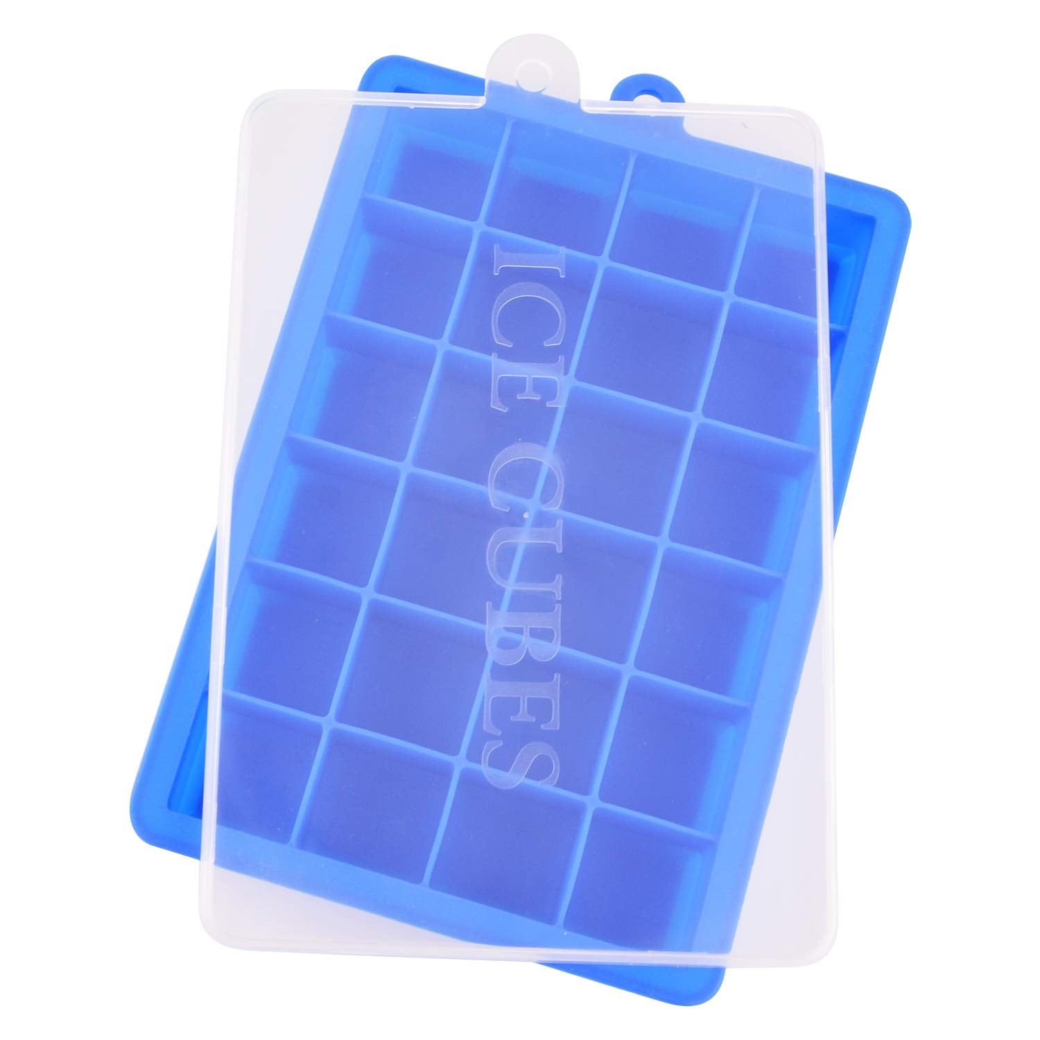 Ice Cube Trays, Silicone Ice Tray Molds Easy Release Ice Jelly Pudding Maker Mold, 24 Cavity (Blue)
