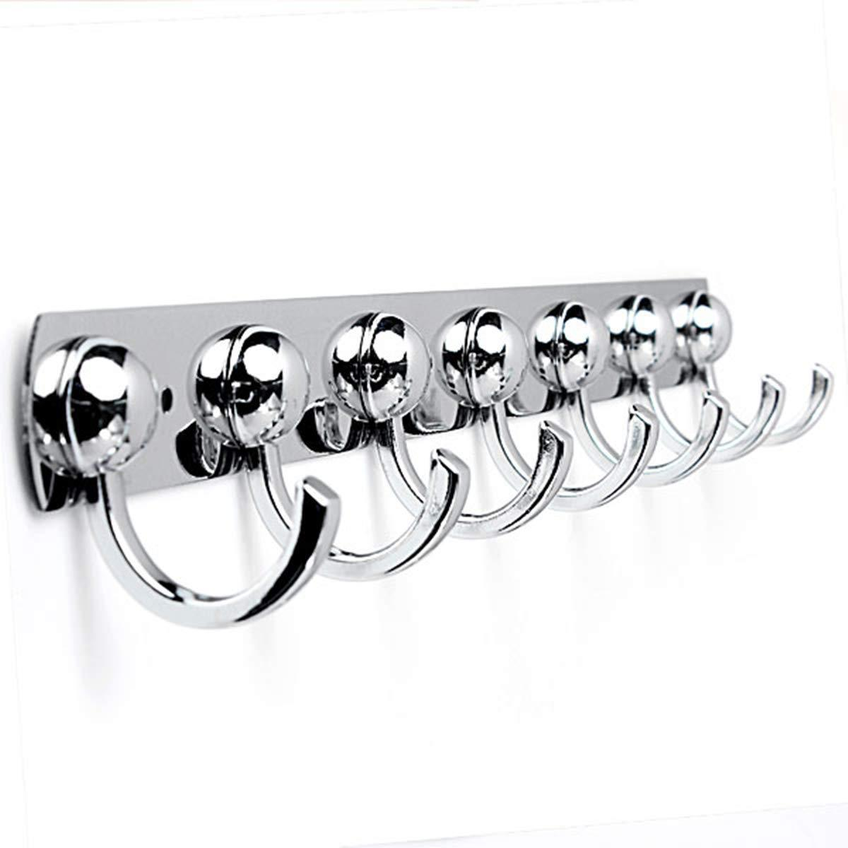 Order now kingso utility hooks kitchen stainless holder rack coat towel hat bathroom wall hanger 7 hooks