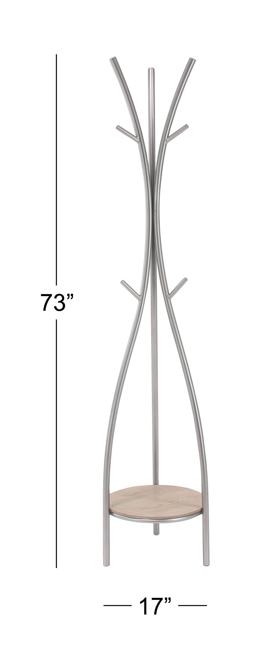 Best deco 79 77602 coat rack silver