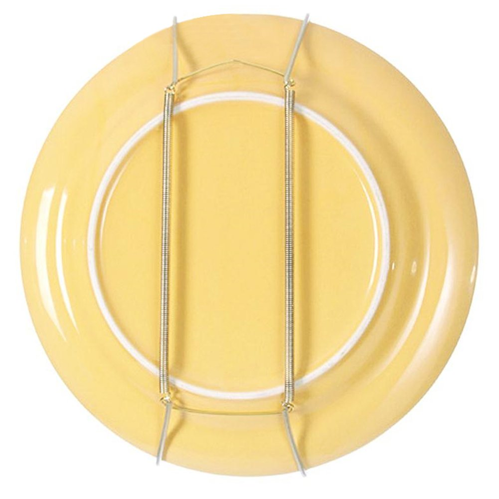 "Plate Hanger with Tip Protectors for the Wall Display, 8'' to 14'' Invisible Spring Wire Expandable Dish Holders Display Metal Hanger Hook for 7.8"" to 16.5"" Decorative Tray (8''-Pack of 10)"