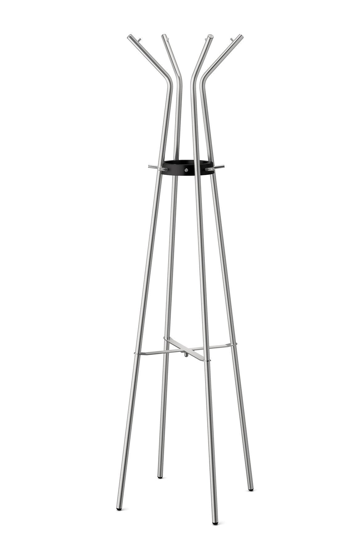 Buy zack stainless steel teros matt finished coat stand 21 26 x 68 90 silver metallic
