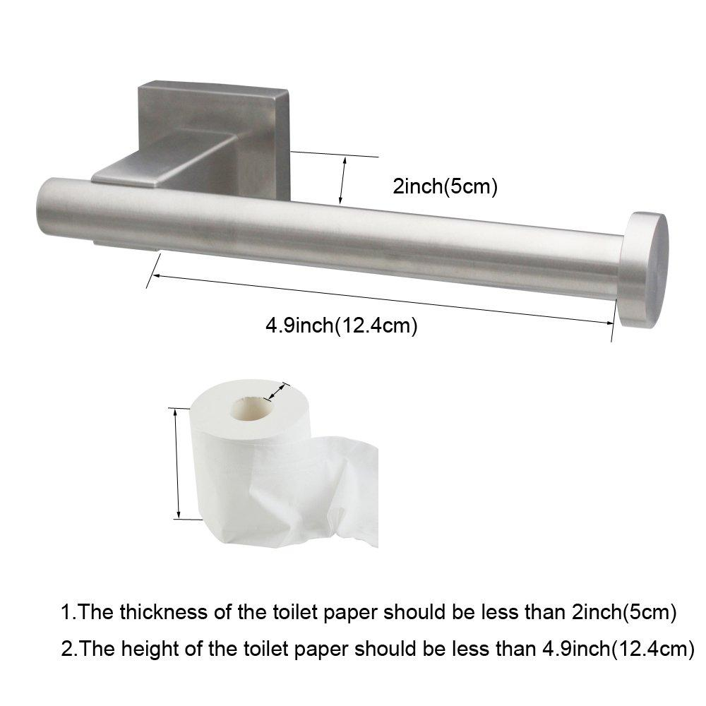 XVL Bathroom Accessories Set, Toilet Roll Paper Holder, Towel Ring, Robe Hook Stainless Steel, Brushed Nickel GT1113A