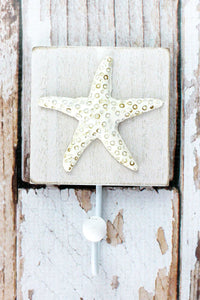 5.75 x 3.5 Starfish Wood Wall Hook