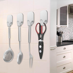 Order now adhesive hooks 16 pack 3m self adhesive wall hooks for key robe coat towel heavy duty stainless steel wall mount hooks for kitchen bathroom toilet