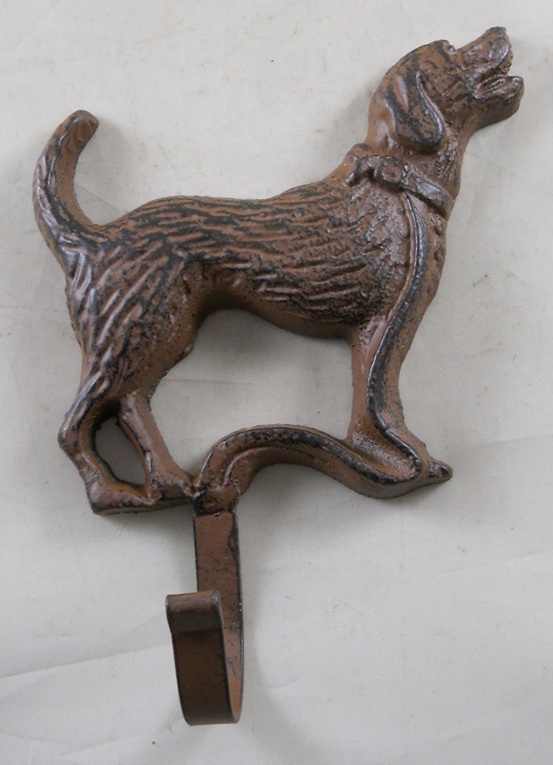 Iron Labrador Dog Wall Plaque with a Hook
