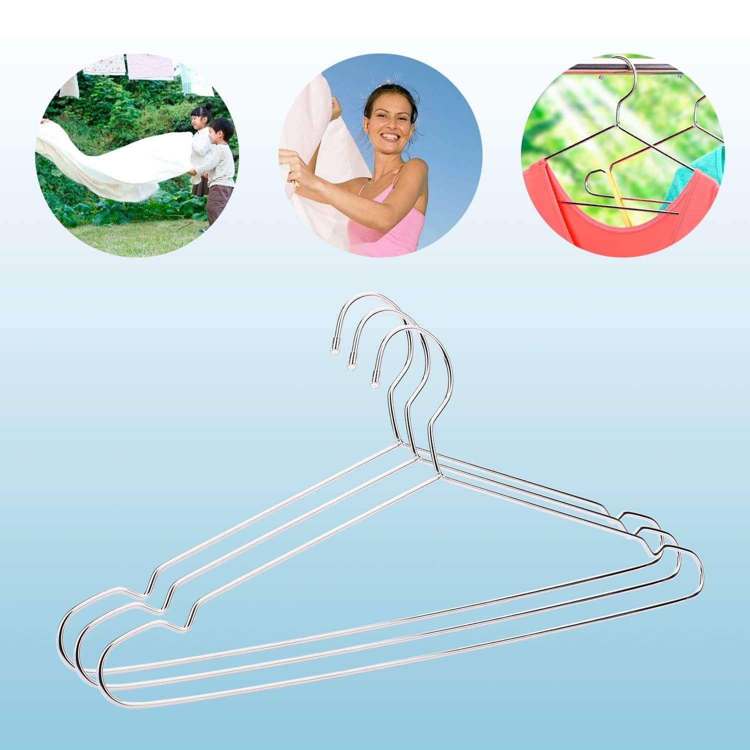 Select nice jetdio 17 7 stainless steel strong metal wire hangers clothes hangers coat hanger standard suit hangers everyday use hangers 30 pack