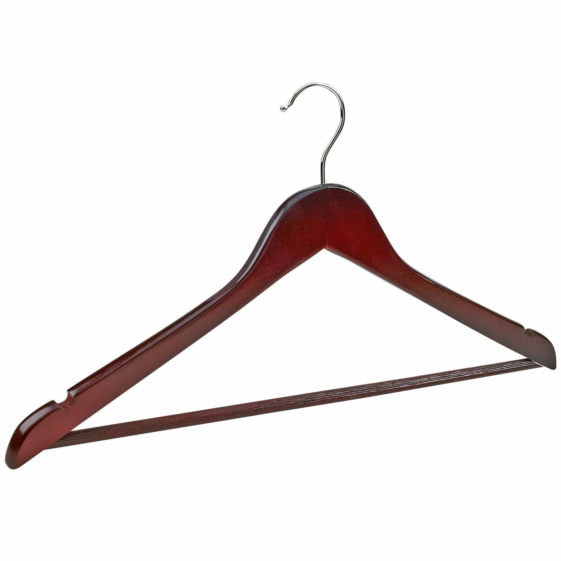 Budget friendly florida brands premium wooden mahogany suit hangers 96 pack of coat hangers and black dress suit ultra smooth hanger strong and durable suit hangers