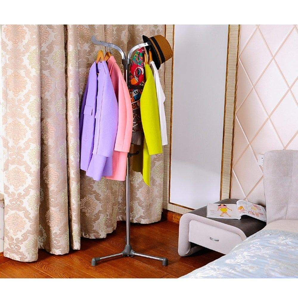 Select nice mai stainless steel coat rack simple bedroom office floor hanger bag rack rotating hook