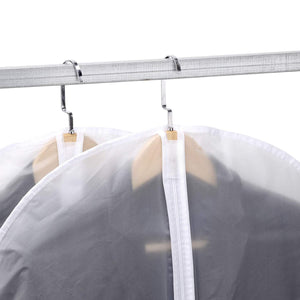 Latest skyugle clear garment bags dress cover 24 x 54 breathable hanging clothes storage protector for dance costumes suit coat plastic garment cover with sturdy zipper 7 pack