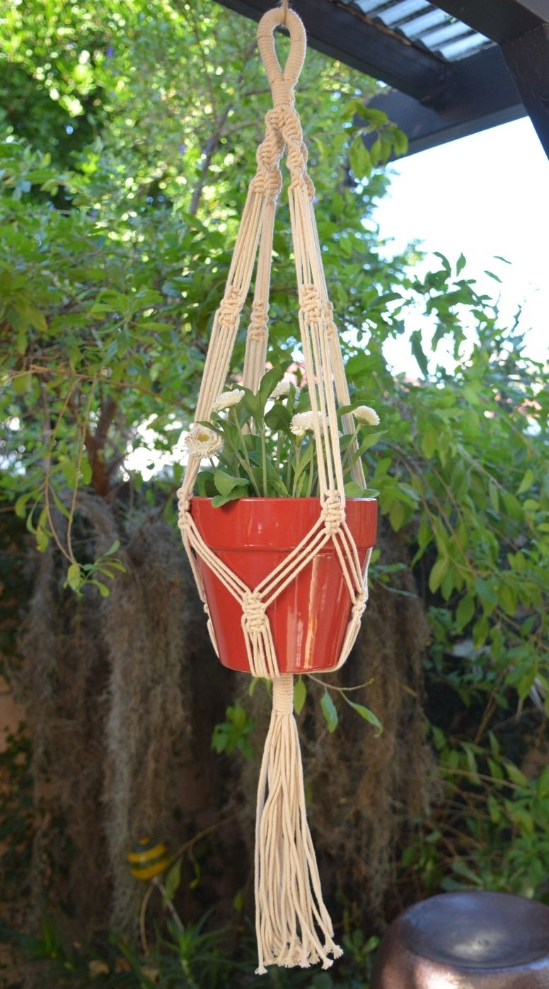 "Handmade Macrame Home & Garden Plant Hanger, Holder, planter | Boho Decor | 41"" (1, Style 05)"