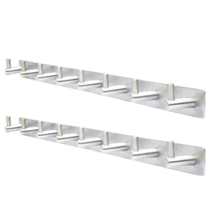Featured webi wall mounted coat rack heavy duty sus 304 wall hooks rack robe hooks metal decorative hook rail for bathroom kitchen office entryway hallway 8 hooks brushed finish 2 packs