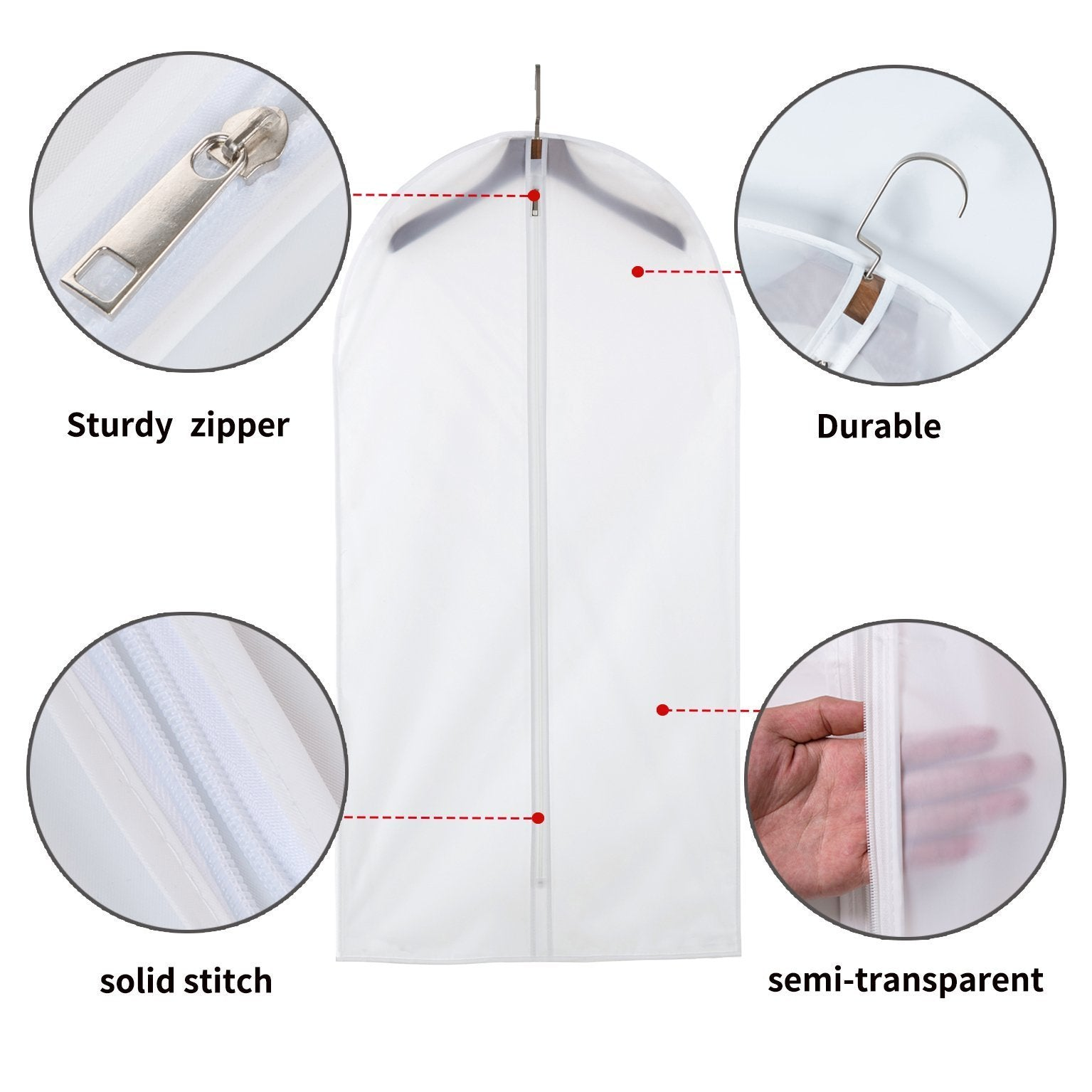 Purchase allhom dust proof clothing bags pack of 6 pcs 60 inch large hanging garment bags and cedar balls for coat long dress gowns and dance costumes