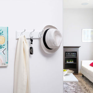Buy now songmics wooden wall mount coat rack with 4 metal hooks 16 inch coat hook rail for hallway bathroom closet room white ulhr23wt