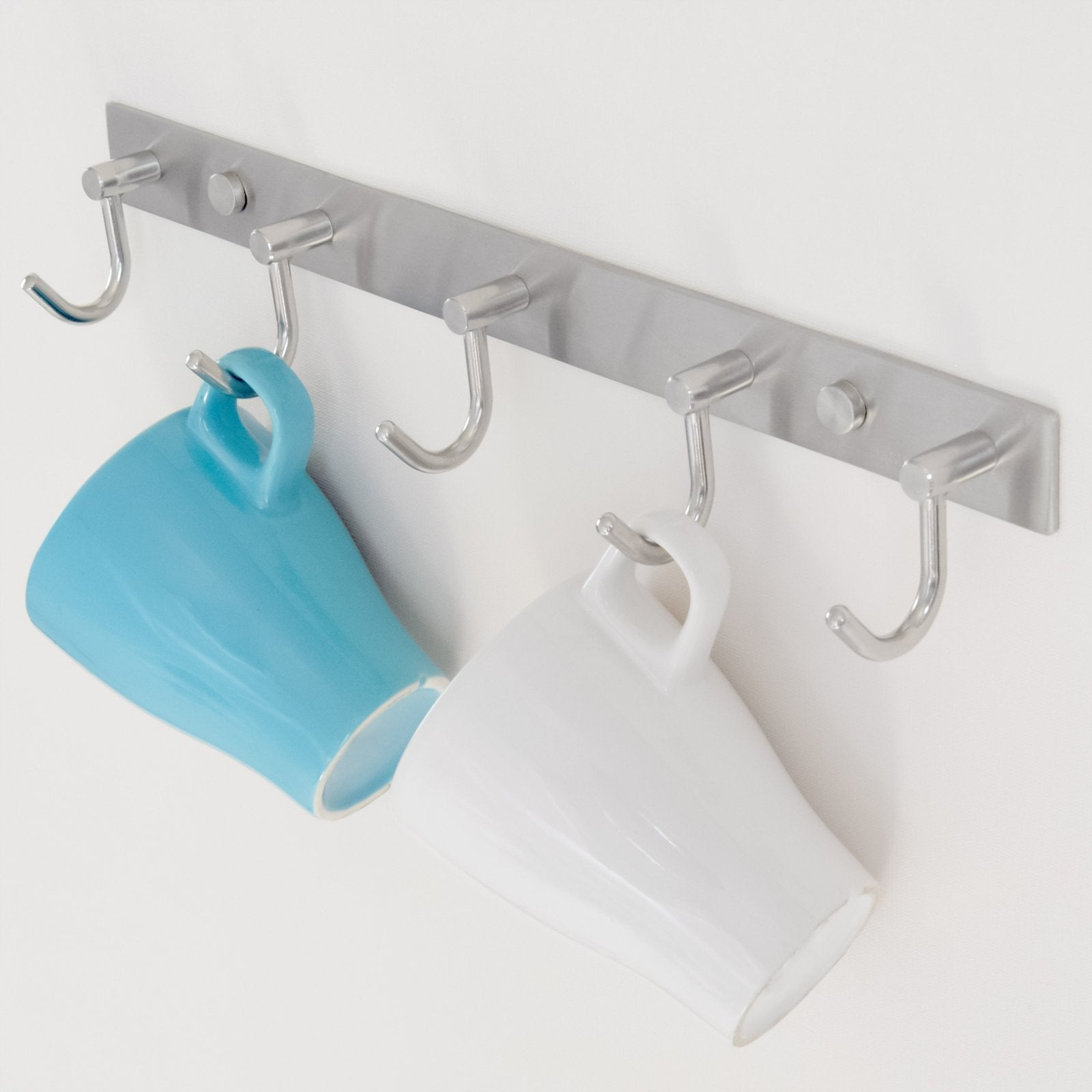 The best arks royal wall coat hooks solid stainless steel hanger rail durable hook rack for clothes bags or keys brushed stainless steel finish 8 hooks