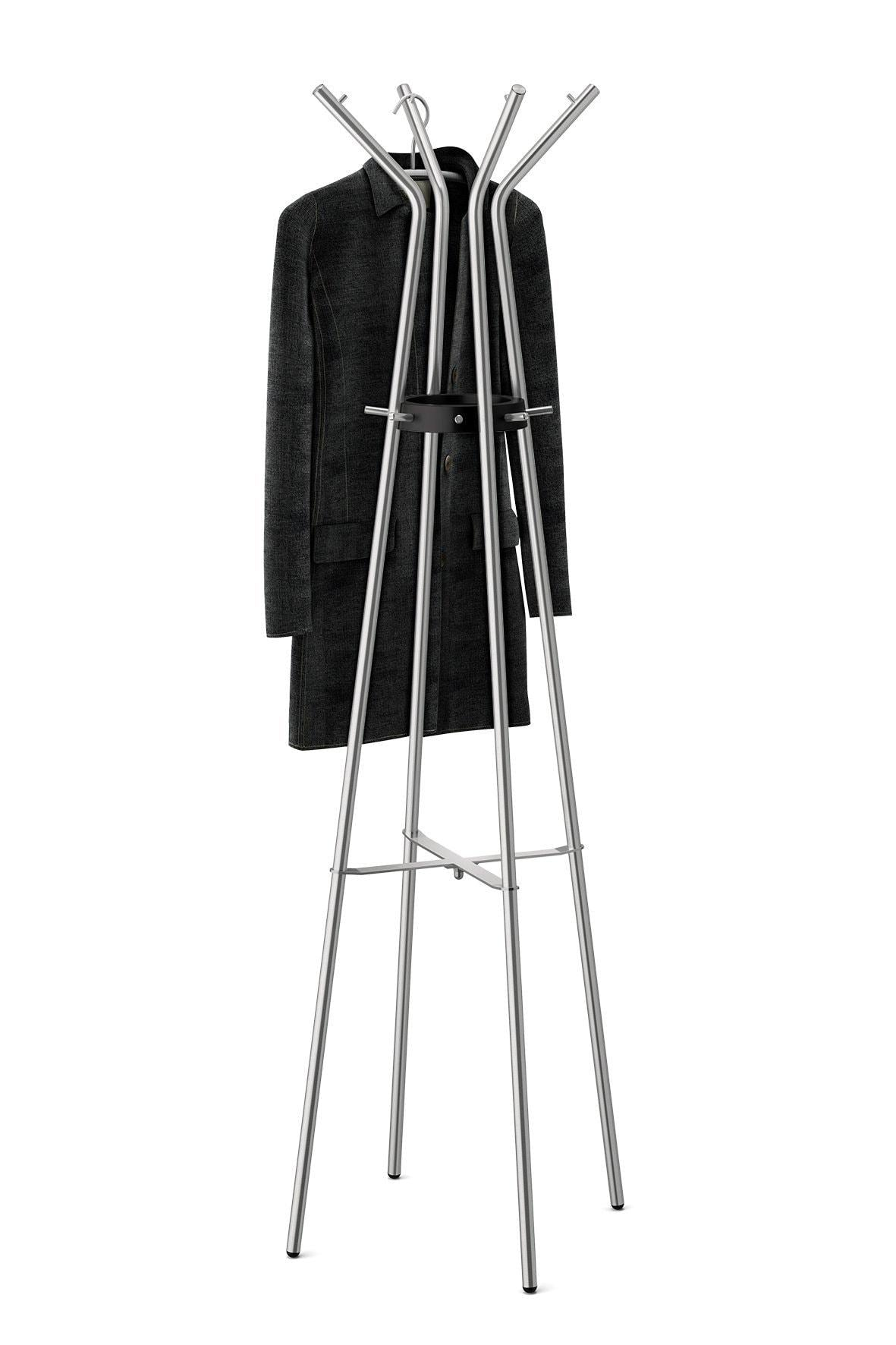 Buy now zack stainless steel teros matt finished coat stand 21 26 x 68 90 silver metallic