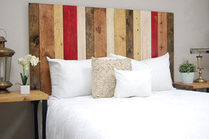 Fall Mix Headboard Queen Size, Hanger Style, Handcrafted. Mounts on Wall. Easy Installation