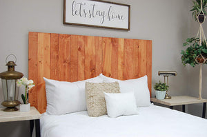 Gunstock Headboard Twin Size Stain, Hanger Style, Handcrafted. Mounts on Wall. Easy Installation