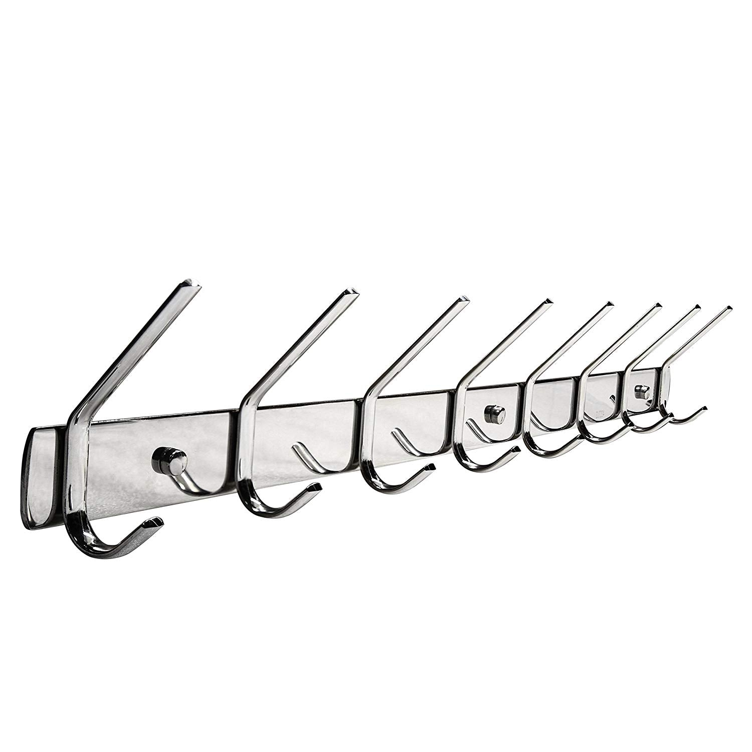 Hat Coat Hooks 2 Set, WEBI SUS304 Modern Heavy Duty 3-Hook Robe Bath Kitchen Towel Utensil Utility Garment Rack Hanger Rail Holder, Bedroom Entryway Garage Bathroom Home Organization Storage, Polished
