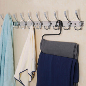 Try dseap wall mounted coat rack 10 tri hooks 37 5 8 long 16 hole to hole heavy duty stainless steel coat hook for coat hat towel robes mudroom bathroom entryway chromed 2 packs