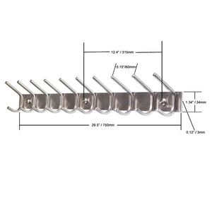 Storage 10 hooks webi heavy duty stainless steel 304 hook rail coat rack with 10 hooks satin finish great home storage organization for bedroom bathroom foyers hallways 2packs