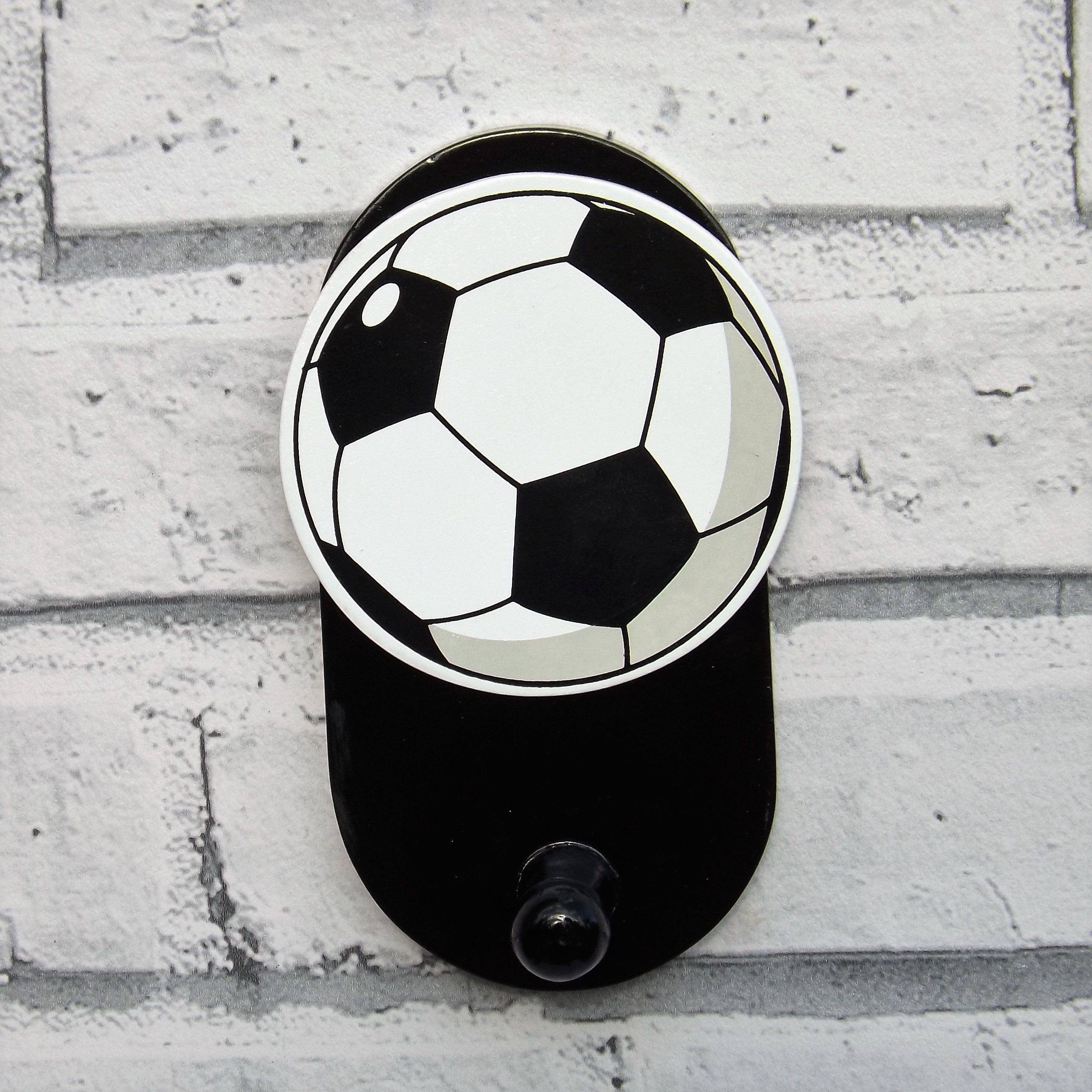 Bright and colourful children's football wall hooks