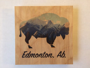 Clearance: Edmonton Bison Silhouette